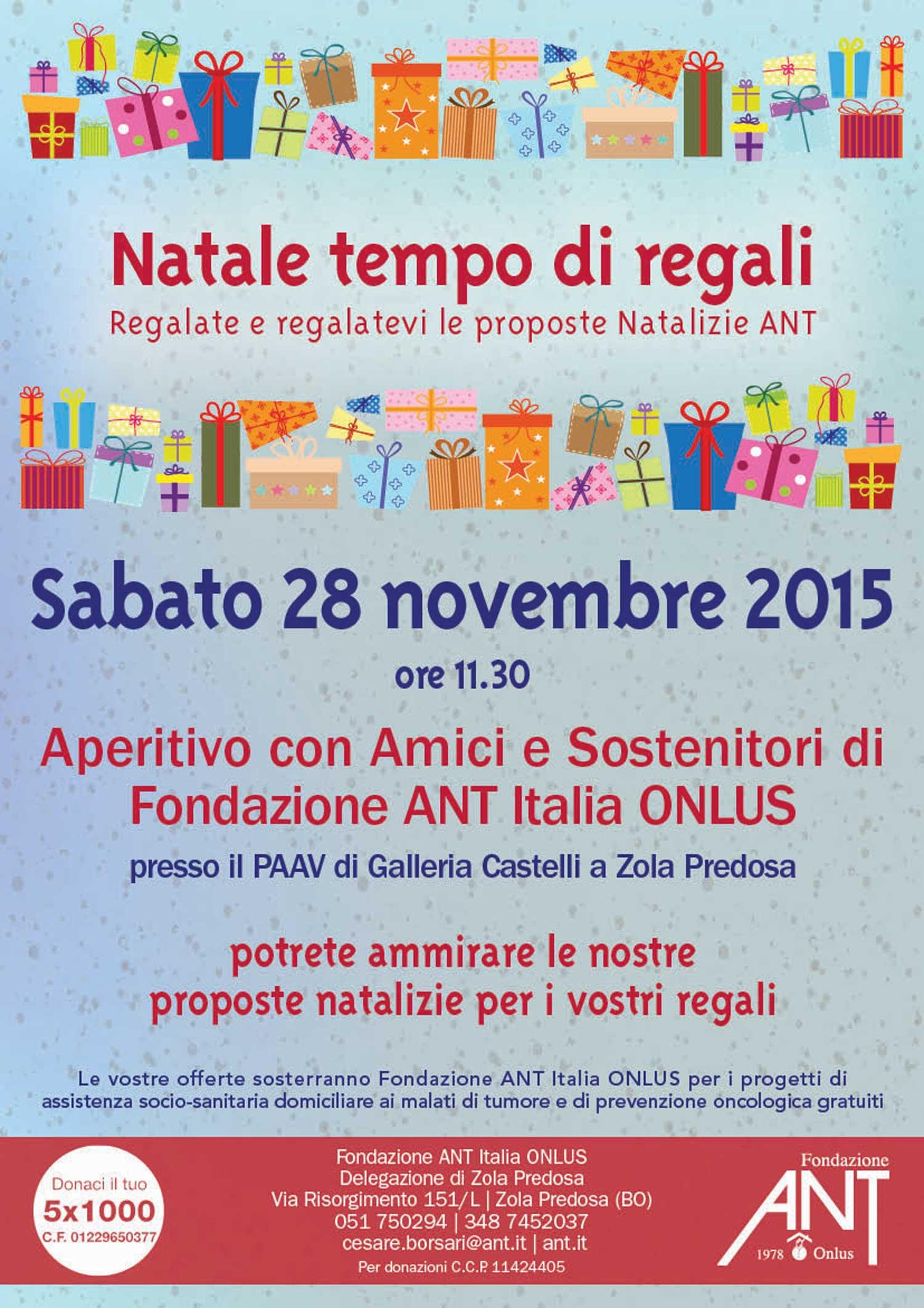 Regali Di Natale Onlus.Natale Tempo Di Regali Fondazione Ant Italia Onlus