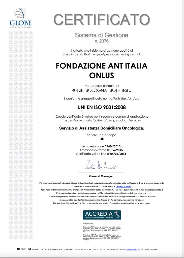 Certificazione ISO:9001:2008